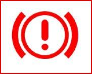 <p><span class='bold_stuff'>BRAKE SYSTEM</span> - This warning light will illuminate if the handbrake is applied - this is a normal function. </p><p>If the light is on and the handbrake is not applied check the brakefluid level. Top up if required and then book into a VW workshop as low fluid can indicate brake pad wear.<br />If the light is still on and the fluid level is correct - <span class='bold_stuff'>DO NOT DRIVE</span> as the brakes may not function correctly.