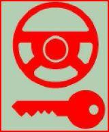 <p><span class='bold_stuff'>STEERING LOCK</span> - Steering lock may engage without warning. <span class='bold_stuff'>DO NOT DRIVE</span>