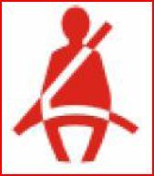 <p><span class='bold_stuff'>SEAT BELT</span> - This warning appears if the drivers or passengers front seat belt is not secured. It may appear with an audiable warning. For drivers travelling alone - ensure goods or luggage is not stored on the passenger seat as this will set off the warning. For any other fault contact a dealer.